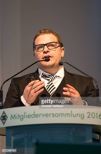 Director of Sport Max Eberl of Borussia Moenchengladbach during the General Assembly of Borussia Moenchengladbach at Borussia Park Stadium on April...