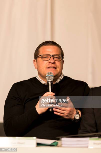 Director of Sport Max Eberl of Borussia Moenchengladbach during the Annual Meeting of Borussia Moenchengladbach at BorussiaPark on April 16 2018 in...