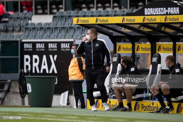 Director of Sport Max Eberl of Borussia Moenchengladbach is seen during the Bundesliga match between Borussia Moenchengladbach and Bayer 04...