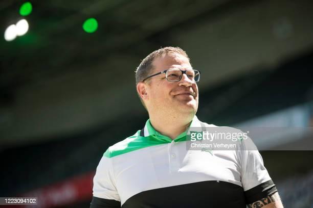 Director of Sport Max Eberl of Borussia Moenchengladbach is seen ahead the Bundesliga match between Borussia Moenchengladbach and Hertha BSC at...