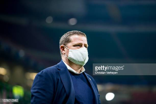 Director of Sport Max Eberl of Borussia Moenchengladbach is seen during the Group B UEFA Champions League match between FC Internazionale and...
