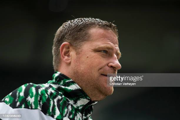 Director of Sport Max Eberl of Borussia Moenchengladbach is seen before the Bundesliga match between Borussia Moenchengladbach and Eintracht...