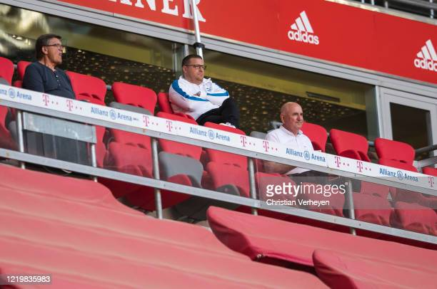 Director of Sport Max Eberl of Borussia Moenchengladbach sitting on the tribune during the Bundesliga match between FC Bayern Muenchen and Borussia...