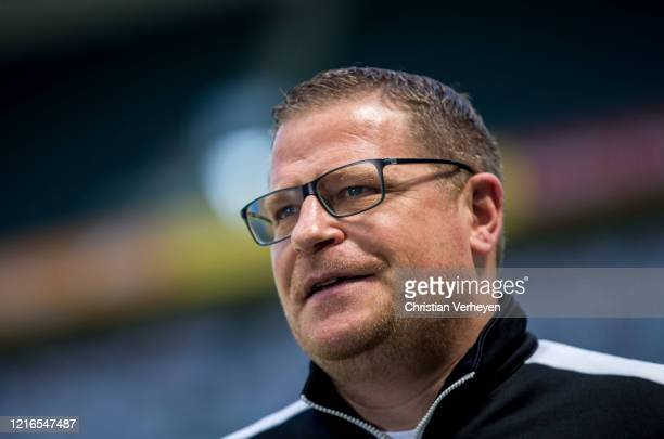 Director of Sport Max Eberl of Borussia Moenchengladbach talkes to the media after the Bundesliga match between Borussia Moenchengladbach and 1 FC...