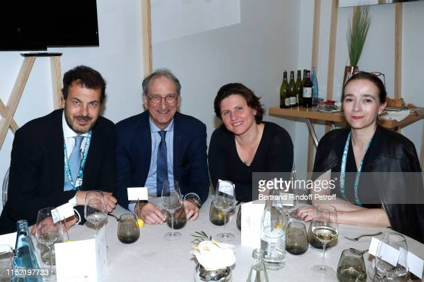 Director of sports at France Television LaurentEric Le Lay a guest Sport Mininister Roxana Maracineanu and President of France Television Delphine...