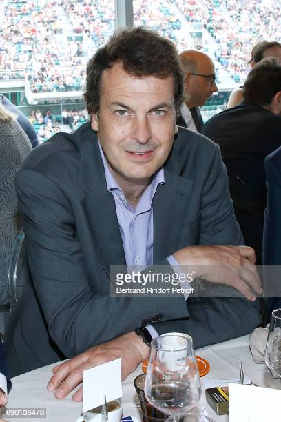 Director of Sports at France Television LaurentEric Le Lay attends the France Television Lunch during the 2017 French Tennis Open Day Three at Roland...