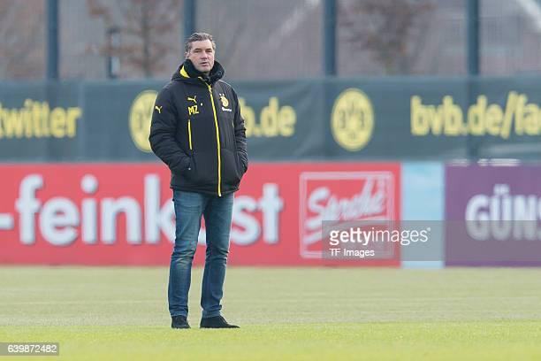 Director of sports Michael Zorc of Borussia Dortmund during a training session at the BVB Training center on January 25 2017 in Dortmund Germany