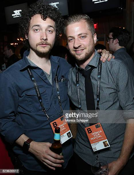 Director of 'Starring Austin Pendleton' David H Holmes and director of 'Operator' Ben Hakim attend the Tribeca Film Festival Wrap Party on April 23...