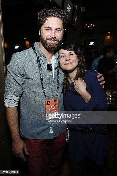 Director of 'Starring Austin Pendleton' Gene Gallerano and Alice Burgin attend the Tribeca Film Festival Wrap Party on April 23 2016 in New York City