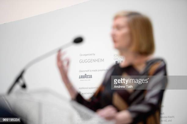 Director of the Annette and Alberto Giacometti Foundation Catherine Grenier speaks as Lavazza continues to grow its partnership with Solomon R...