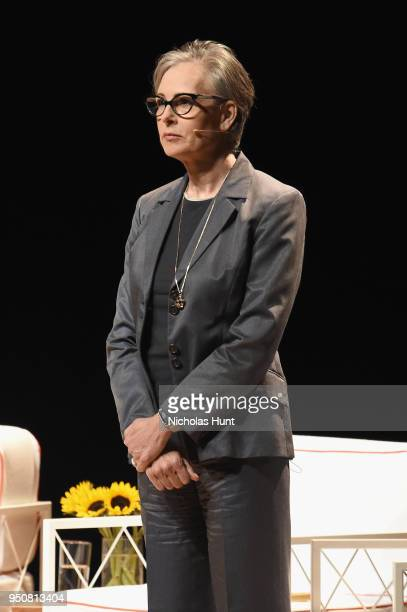 Director of the Board and Kandice Cole Program Associate Heather Mitchell speaks onstage during The Tory Burch Foundation 2018 Embrace Ambition...