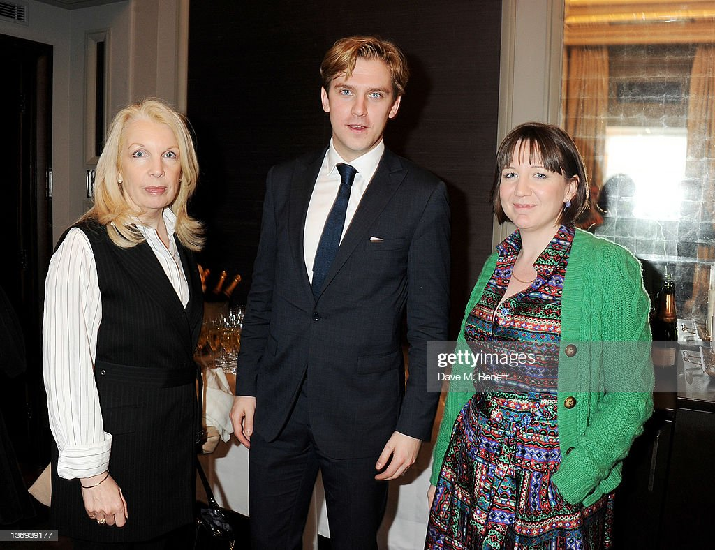 Director of the British Film Institute Amanda Nevill, actor Dan Stevens and Artistic Director of The Donmar Warehouse Josie Rourke attend the Corinthia Artist In Residence winners announcement at Corinthia Hotel London on January 13, 2012 in London, England.