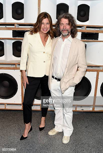 Director of the Brooklyn Museum Anne Pasternak and artist Mike Starn attend The 2016 Brooklyn Museum Artists Ball Honoring Stephanie and Tim...