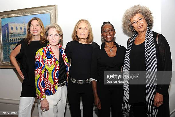 Director of the Brooklyn Museum Anne Pasternak Founder of the Sackler First Awards Elizabeth Sackler activist Gloria Steinem First Lady of New York...