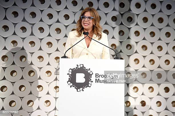 Director of the Brooklyn Museum Anne Pasternak speaks onstage during The 2016 Brooklyn Museum Artists Ball Honoring Stephanie and Tim Ingrassia on...