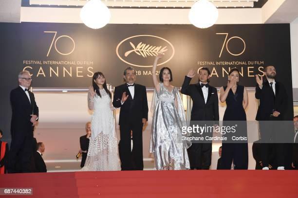 Director of the Cannes Film Festival Thierry Fremaux Ayame Misaki Tatsuya Fuji director Naomi Kawase Asatoshi Nagase Misuzu Kanno and Ibrahim Maalouf...