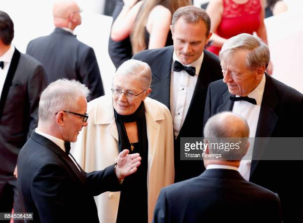 Director of the Cannes Film Festival Thierry Fremaux Director Vanessa Redgrave and producer Carlo Gabriel Nero of ''Sea Sorrow' attends the Loveless...