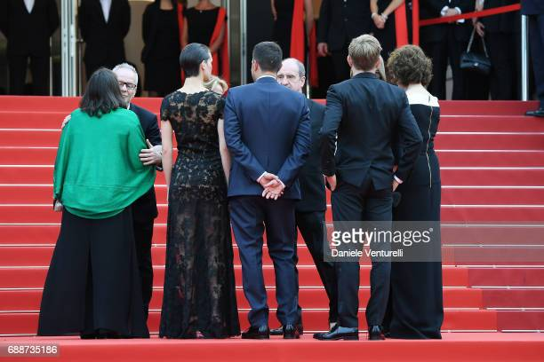 Director of the Cannes Film Festival Thierry Fremaux, French minister of Culture Francoise Nyssen, President of the CNC Frederique Bredin and...