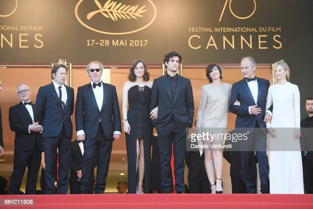 Director of the Cannes Film Festival Thierry Fremaux Mathieu Amalric director Arnaud Desplechin Marion Cotillard Louis Garrel Charlotte Gainsbourg...