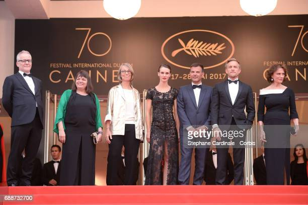 Director of the Cannes Film Festival Thierry Fremaux Myriam Boyer French minister of Culture Francoise Nyssen Marine Vacth director Francois Ozon...