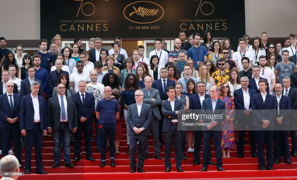Cannes Film Festival Hold Minutes Silence For The Victims Of The Manchester Terror Attack - The 70th Annual Cannes Film Festival