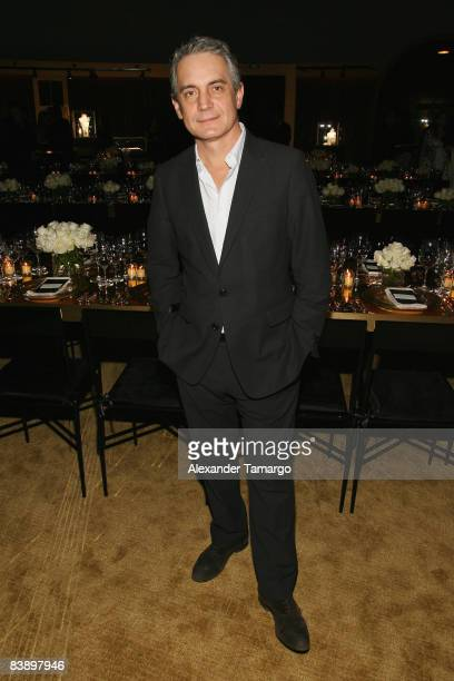 Director of the Cartier Foundation for Contemporary Art Herve Chandes attends a private dinner in honor of Anri Sala at the Cartier Dome Miami Beach...