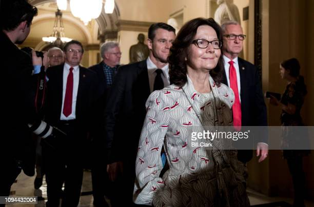 Director of the Central Intelligence Agency Gina Haspel leaves the House chamber after President Donald Trump's State of the Union Address to a joint...