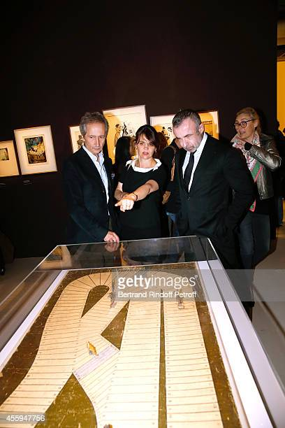 Director of the Centre Pompidou Museum of Modern Art Bernard Blistene Commissioner of the Exhibition Cecile Debray and President of Centre Pompidou...
