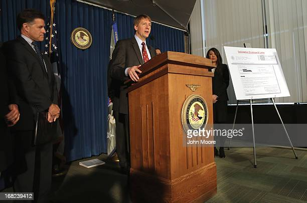 Director of the Consumer Financial Protection Bureau Richard Cordray addresses the media on May 7 2013 in New York City He and federal prosecuters...