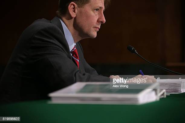 Director of the Consumer Financial Protection Bureau Richard Cordray testifies during a hearing before the Senate Banking Housing and Urban Affairs...