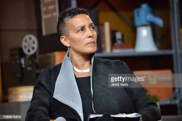 Director of the Documentary Film Program at Sundance Institute Tabitha Jackson speaks during the Can Art Save Democracy Panel during the 2019...