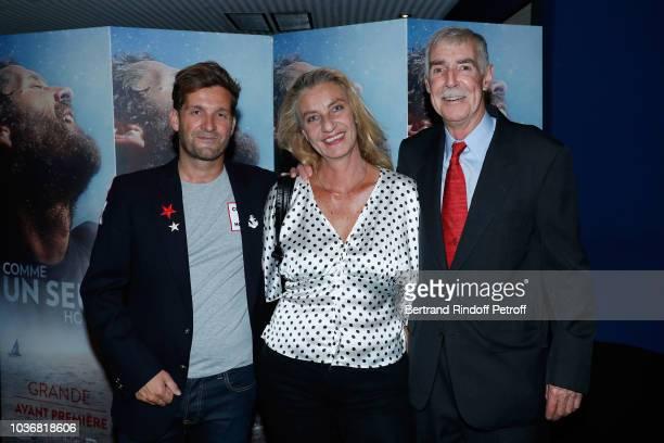 Director of the Documentary Navigator Eric Bellion Niece of Navigator Bernard Moitessier Virginie Moitessier and Navigator Rich Wilson the Comme un...