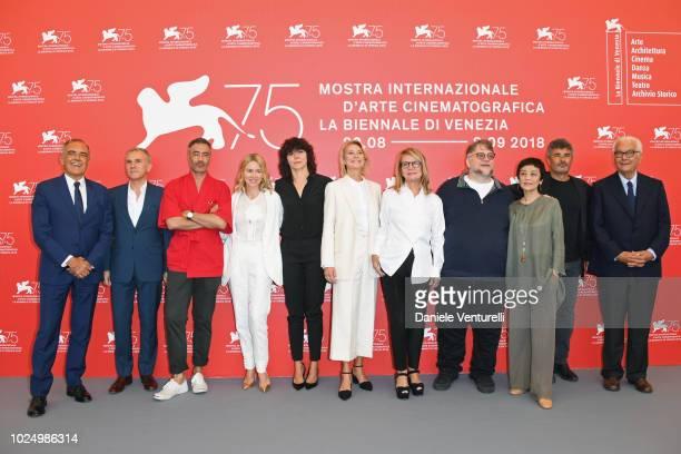 Director of the festival Alberto Barbera official competition jury members Christoph Waltz Taika Waititi Naomi Watts Malgorzata Szumowska Trine...