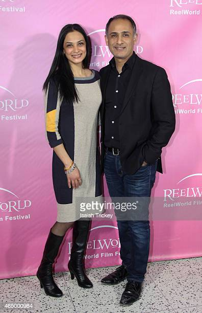 Director of the film 'Dowry' Jag Parmar and ReelWorld Film Festival Chair Moe Jiwan attend the ReelWorld Film Festival 2015 Program Launch Reception...