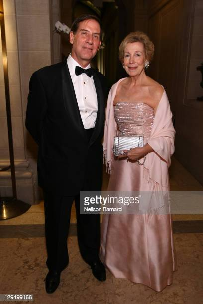 Director of the Frick Dr Ian Bruce Wardropper and Director Emerita Anne L Poulet attend the 2011 Frick Collection Autumn Dinner Honoring Anne L...