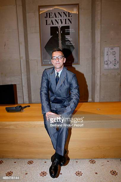 Director of the Galliera Museum Olivier Saillard attends the Jeanne Lanvin Retrospective : Opening Ceremony at Palais Galliera on March 6, 2015 in...
