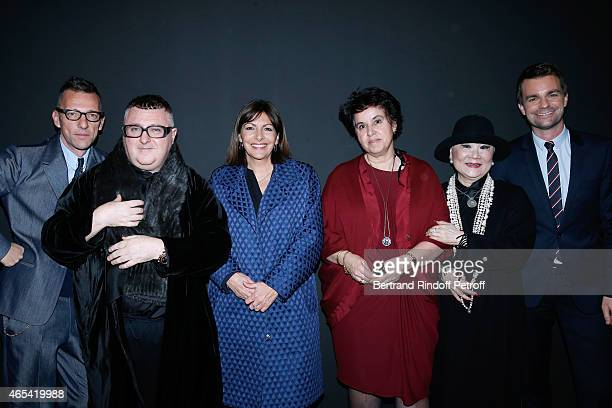 Director of the Galliera Museum Olivier Saillard, Fashion Designer Alber Elbaz, Mayor of Paris Anne Hidalgo, Owner of Lanvin Shaw Lan Wang, General...