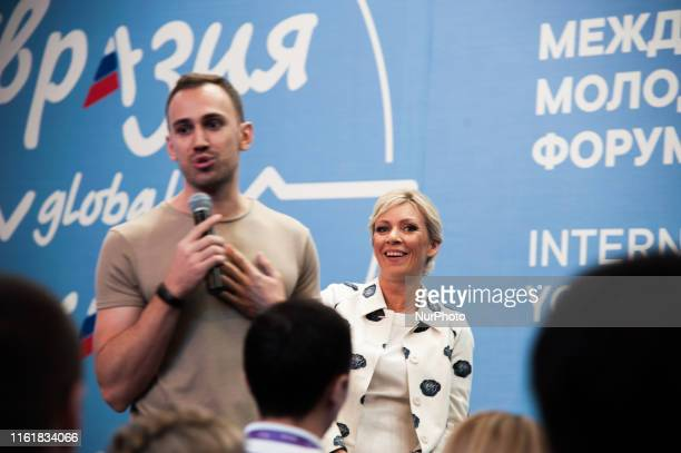 Director of the Information and Press Department of the Ministry of Foreign Affairs of Russia, Maria Zakharova, during International Youth Forum...