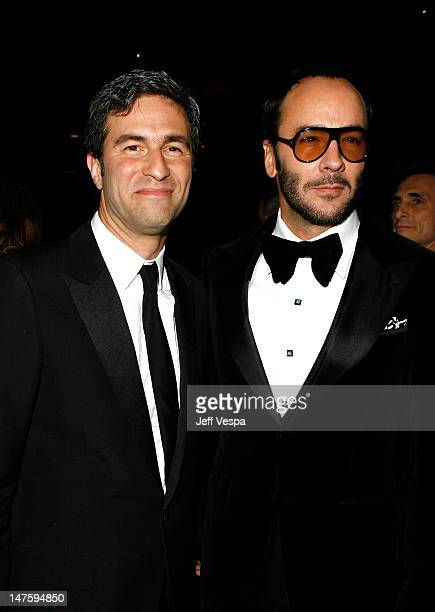 Director of the Los Angeles County Museum of Art Michael Govan and designer Tom Ford attend LACMA's Opening Celebration of the Broad Contemporary Art...