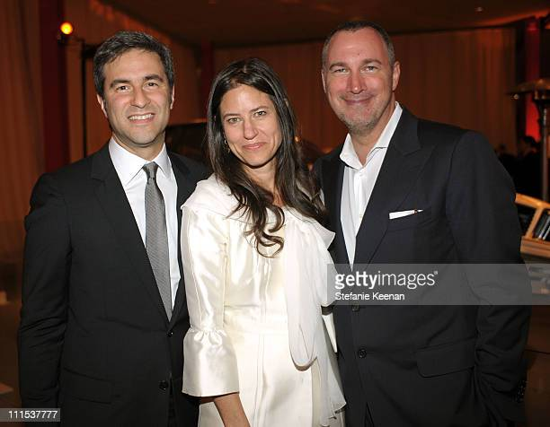 Director of the Los Angeles County Museum of Art Michael Govan Katherine Ross and Vanity Fair publisher Edward Menicheschi attends the BMW Art Car US...