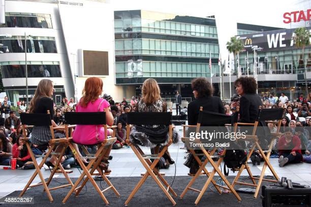 Director of the Los Angeles Film Festival Stephanie Allain director Amy Heckerling actresses Stacey Dash Elisa Donovan and Alicia Silverstone attend...