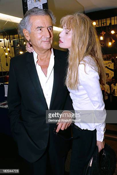 Director of the movie Arielle Dombasle and writer BernardHenri Levy attend 'Opium' movie Premiere held at Cinema Saint Germain in Paris on September...