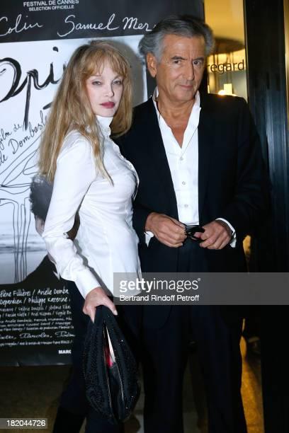 Director of the movie Arielle Dombasle and writer BernardHenri Levy attend 'Opium' movie Premiere held at Cinema Saint Germain in Paris on September...