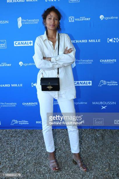 Director of the movie Atlantique Mati Diop attends the 12th Angouleme FrenchSpeaking Film Festival Day three on August 22 2019 in Angouleme France
