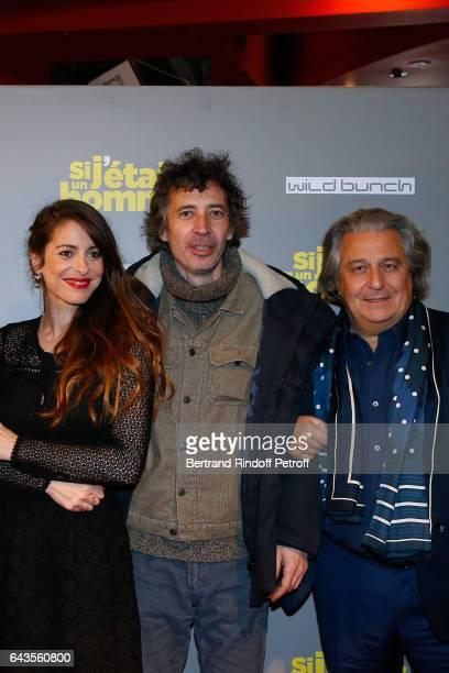 Director of the movie Audrey Dana actors Eric Elmosnino and Christian Clavier attend the 'Si j'etais un Homme' Paris Premiere at Cinema Gaumont Opera...