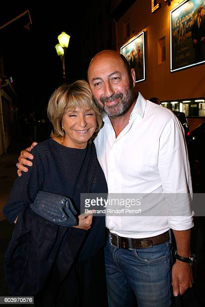 Director of the movie Daniele Thompson and actor kad Merad attend the Cezanne et Moi Premiere Held at the Cinema Le Cezanne on September 12 2016 in...