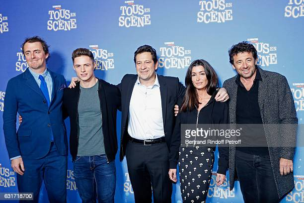 Director of the movie Garth Jennings French voices of the movie Sacha Perez imitator Laurent Gerra singer Jenifer Bartoli and singer Patrick Bruel...