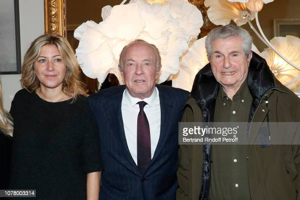 Director of the movie Holy Lands Amanda Sthers Actor James Caan and Director Claude Lelouch attend James Caan receives the 'Medaille Vermeille de la...