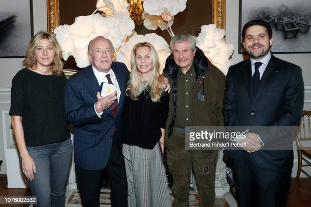 Director of the movie Holy Lands Amanda Sthers Actor James Caan his wife Linda Stokes Director Claude Lelouch and Deputy mayor of Paris Patrick...