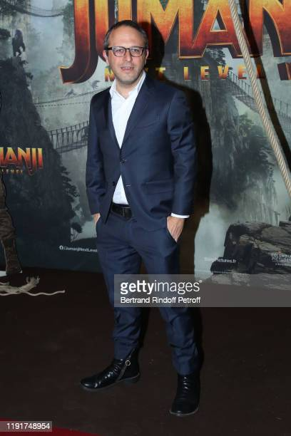 Director of the movie Jake Kasdan attends the photocall of the Jumanji Next Level film at le Grand Rex on December 03 2019 in Paris France